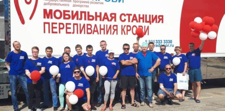 В Свободном прошла акция по сбору крови, в которой приняли участие 67 работников компании Газпром